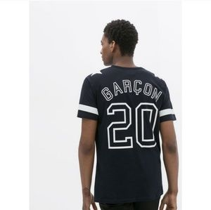 Zara Man B&W Paris Garcon Jersey T-Shirt - Small